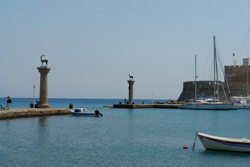 Hafeneinfahrt Rhodos Stadt