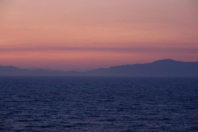 Sonnenuntergang über der Ägäis